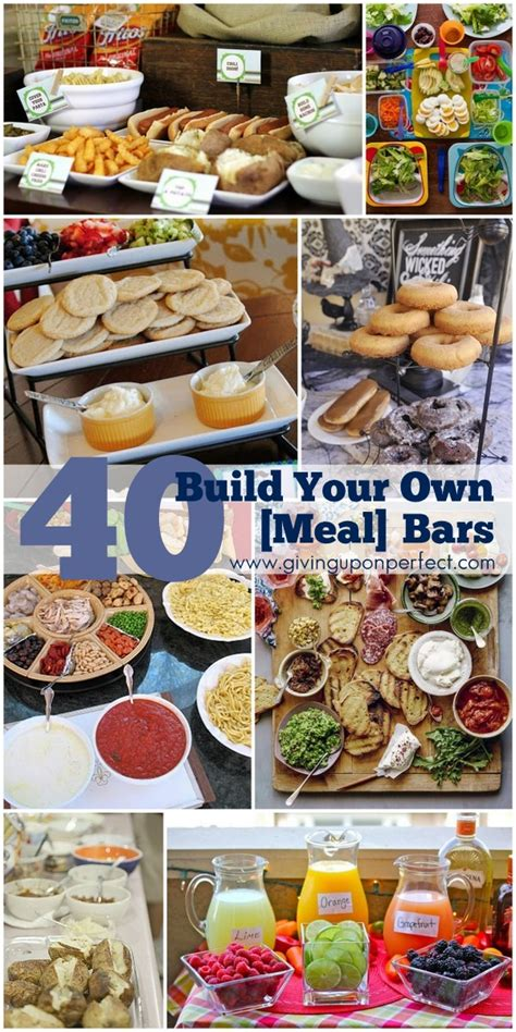 40 Ideas For Build Your Own Food Bars Mary Carver How To Make A Buffet Bar