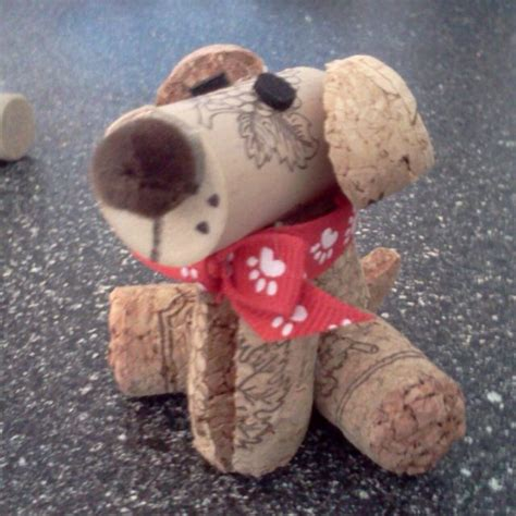 crafted cork animals a bit corky awesome puppys and