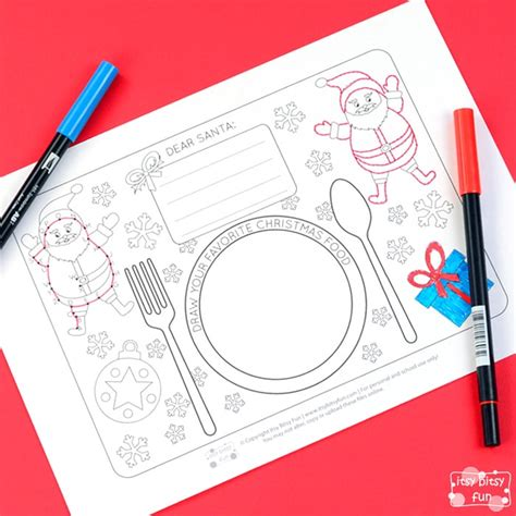 free printable christmas paper placemats printable christmas placemats itsy bitsy fun