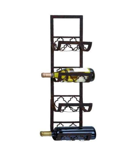 Metal Wine Racks by Black Metal Wall Wine Rack