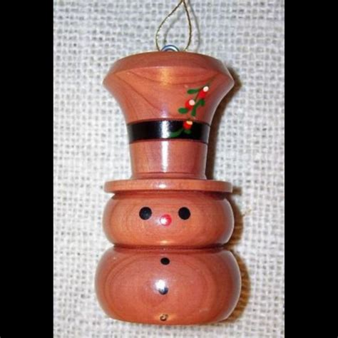 Handmade Wood Ornaments - snowman for david