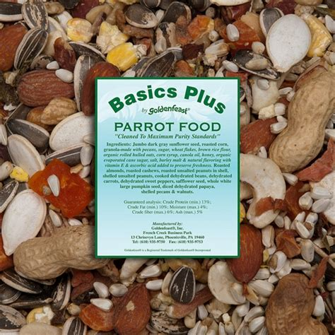 goldenfeast basics parrot food bulk 8lb