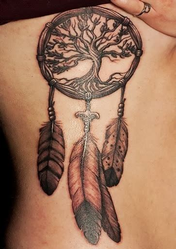 dream catcher side tattoo dreamcatcher on rib side