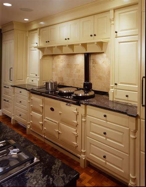 View of AGA Cooker Traditional Kitchen minneapolis by Porth Architects, Ltd.