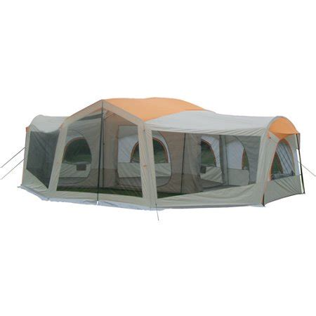 10 room tent walmart ozark trail 10 person 3 room family cabin tent with
