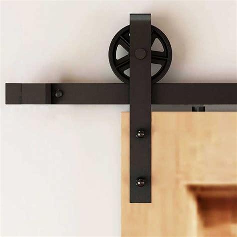 slider door track hardware single sliding door track home design winsoon 5 16ft sliding barn door hardware single door