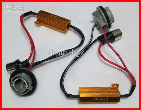 3157 load resistor harness 50w gold fuse h8 h4 h7 9005 9006 3156 3157 led bulbs error free canbus load resistor decoder
