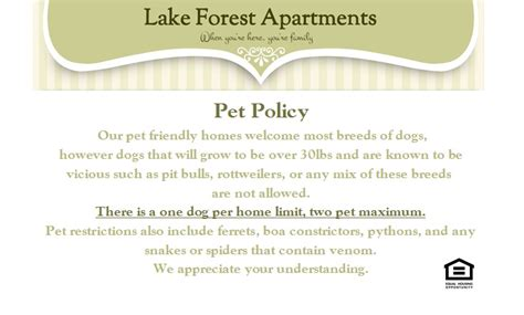 creekwood apartments pet deposit lake forest apartments 1 2 bedroom homes