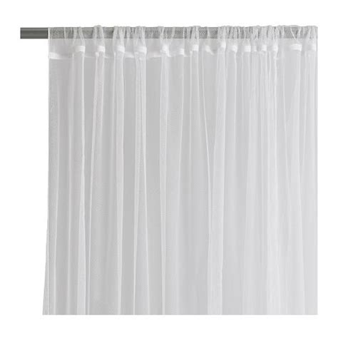 Ikea Lill Gorden Jaring 6 white curtains