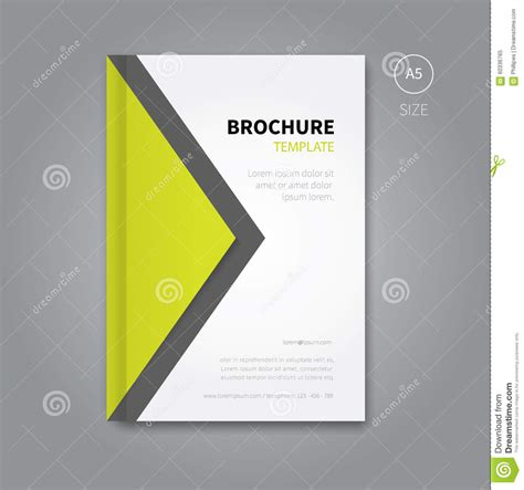 brochure cover layout ideas abstract brochure cover design background stock vector