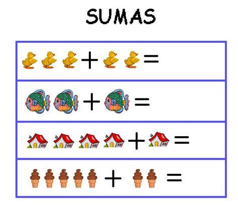 imagenes de matematicas sumas y restas aprende a sumar fichas de sumas con dibujos