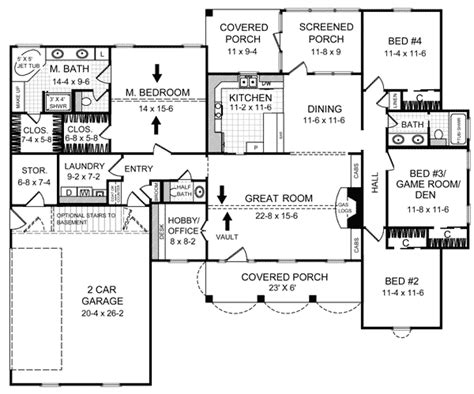 2000 Sq Ft Ranch House Plans by House Plan 59070 At Familyhomeplans Com