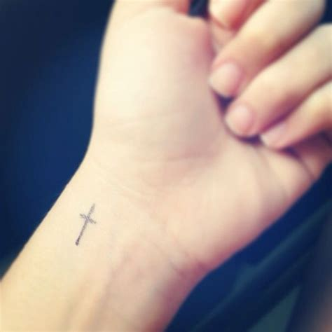 small cross wrist tattoo small cross tattoos on wrist www imgkid the image