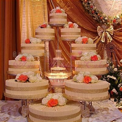 wedding cakes  fountains   fun