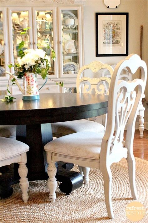 painted dining room chairs how to spray paint dining chairs refresh restyle