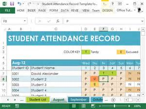 Powerpoint Templates For Students by Student Attendance Record Template For Excel