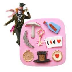 In wonderland theme silicone mould cake chocolate decorating mold tool