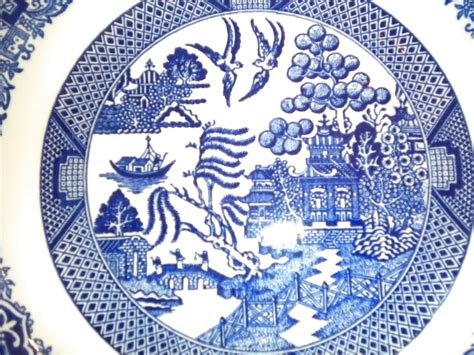 blue pattern china blue willow pattern wallpaper
