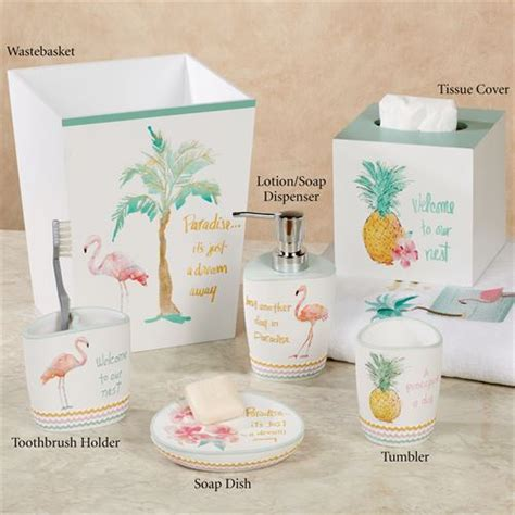 flamingo bathroom accessories flamingo fever tropical bath accessories