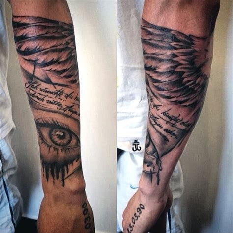 wing tattoo on forearm top 100 best wing tattoos for designs that elevate