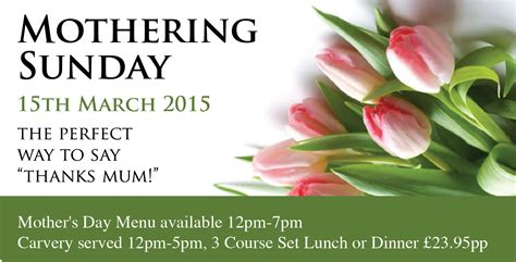 s day 2015 durker roods hotel mothers day holmfirth events