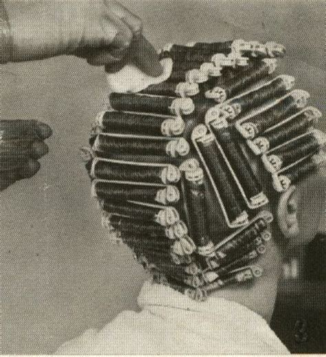 use large rollers when give a permanet wave on long hair 1948 best images about friseur hairdresser peluqueria