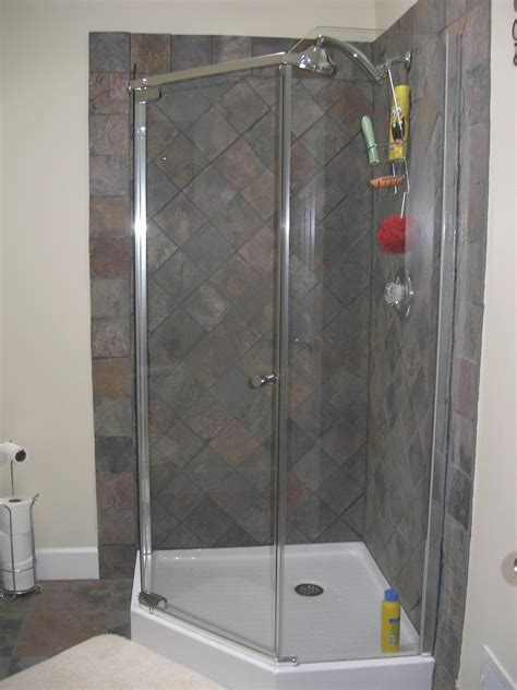 Bathroom Shower Stall Kits Shower Stall Kits With Glass Doors Frameless Neoangle Shower Enclosure In Shower Stall Shower