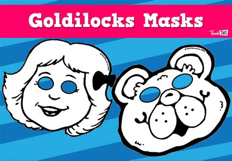 printable masks for goldilocks and the three bears goldilocks masks printable teacher resources for
