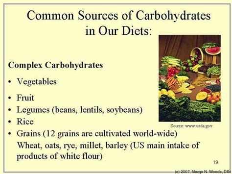 carbohydrates sources ppm 121 nutrition and medicine fall 2006 tufts