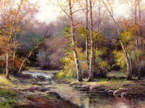 l black oil paint painting forest images