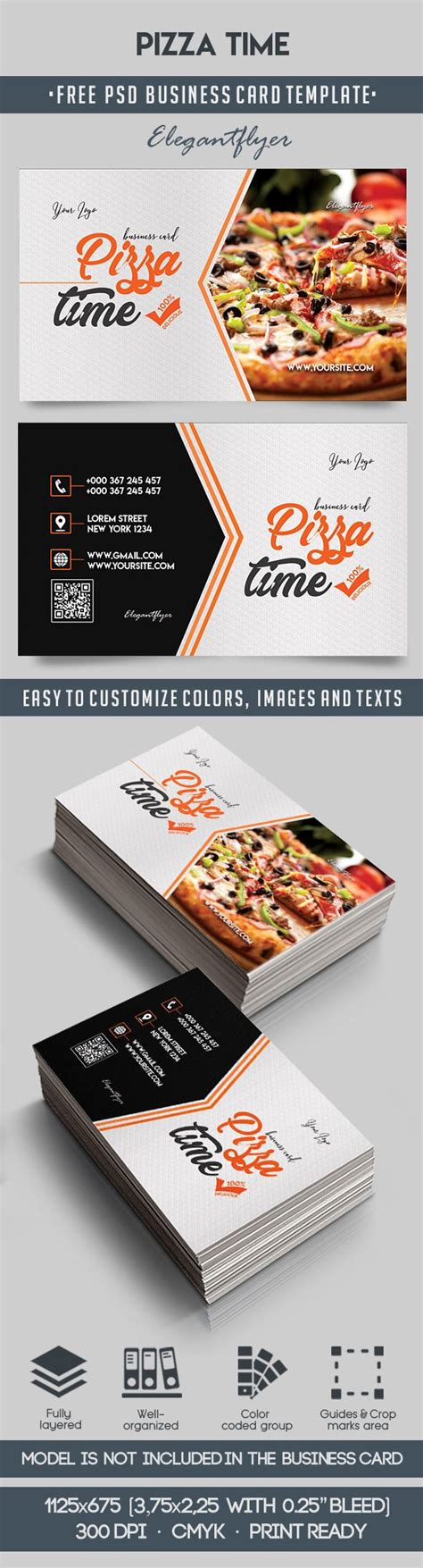 pizza template for a card pizza time free business card templates psd by