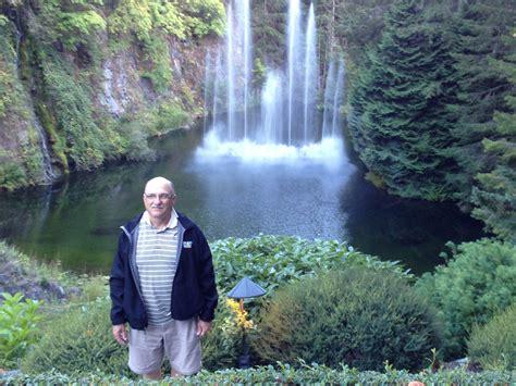 falls  butchard gardens vancouver island  images