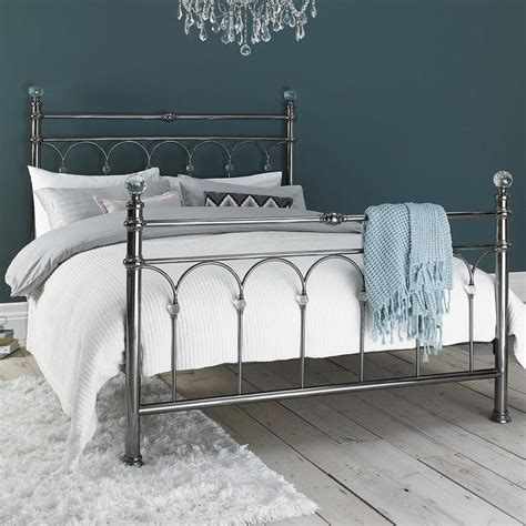 Costco Bed Frame Metal Bentley Cristina Antique Nickel Finish Metal Bed Frame Costco Uk
