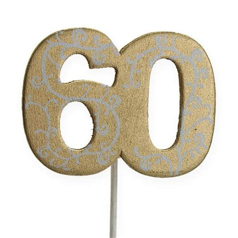 led len preiswert kaufen zahl quot 60 quot zum stecken holz gold 36st preiswert kaufen
