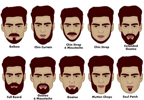 different types of beard styles on a black male types of chin for beard google search beard styles
