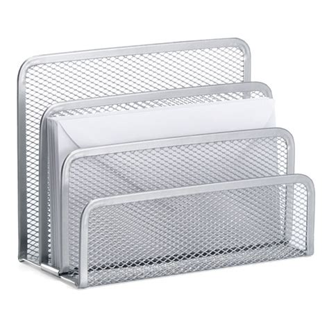 silver mesh letter holder the container store