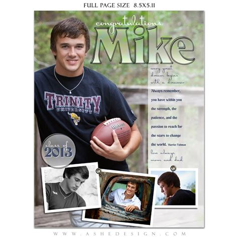 senior ad templates senior yearbook ads photoshop templates high