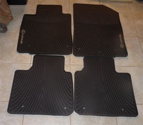 buy factory lexus all weather floor mats es350 black 4 pc