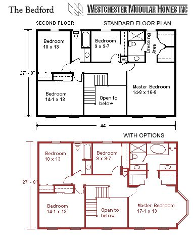 two story modular floor plans colonials the bedford westchester modular homes inc