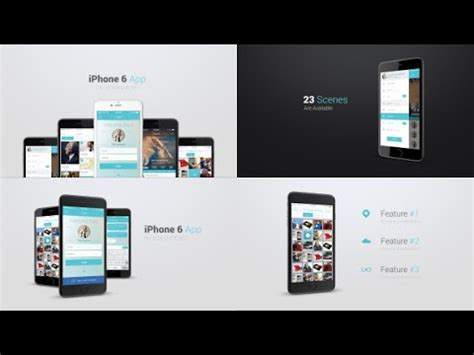 Iphone 6 App Presentation Kit Template After Effects Project Youtube Iphone 6 After Effects Template Free