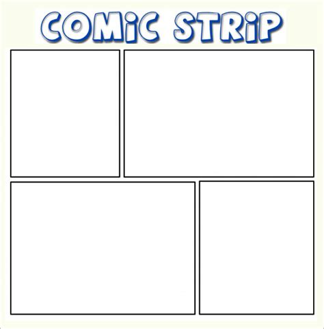 Printable Blank Comic Template For by 11 Comic Templates For Free Sle Templates