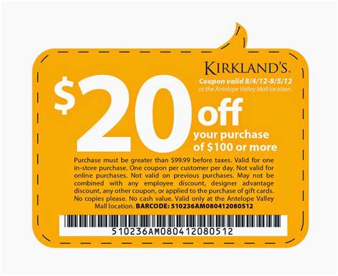 Kirklands Printable Coupons