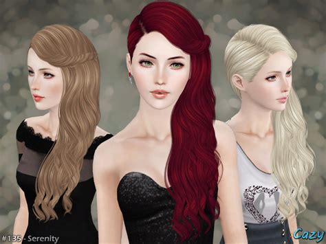 sims 3 resource hair cazy s serenity hairstyle set