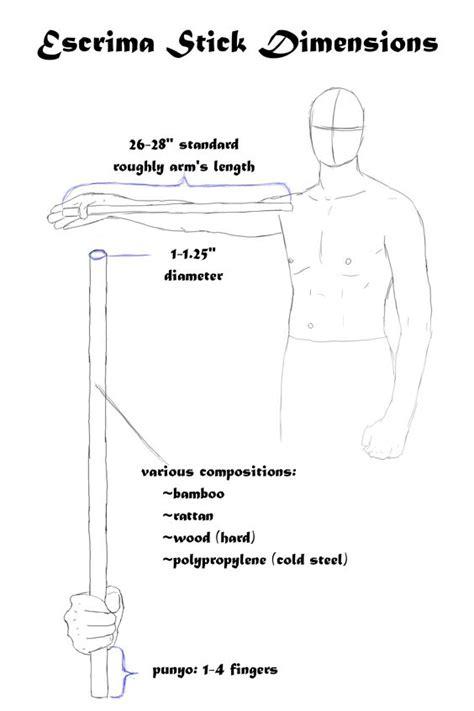 walking stick dimensions escrima stick dimensions karat 233