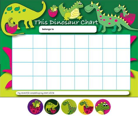 printable toddler sticker chart printable dinosaur behavior charts viewing home