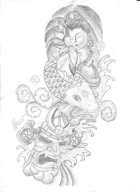 tattoo sleeve drawings designs japanese sleeve design by liamowens96 on deviantart