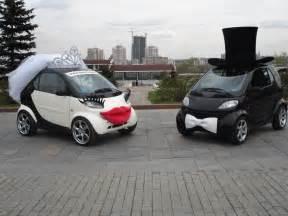 strange wedding cars smart cars groom