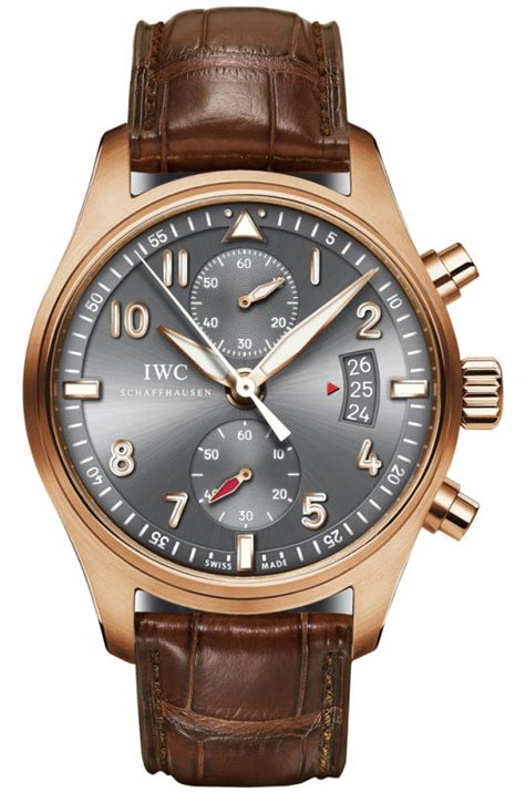Alba At3382 Rosegold Brown Leather Original iw387803 swiss luxury iwc watches iw387803 watches in