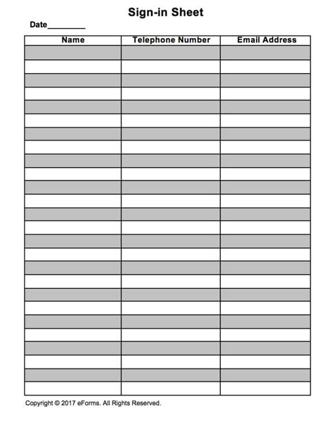 Sign Sheet Template by Sign In Sheet Templates Haisume