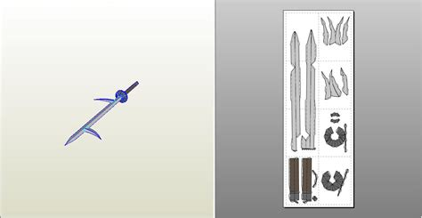 Papercraft Swords - kiba sword papercraft by sibor270898 on